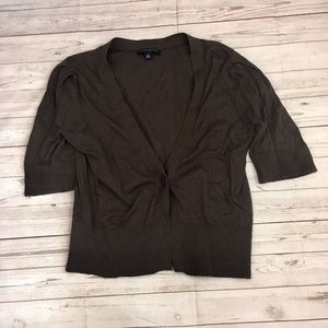 banana republic womens m brown short sleeve croppe